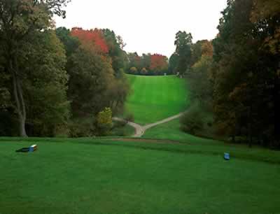 A look down the fairway at Beckett Ridge Golf Club