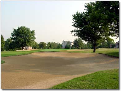 A big bunker at Beckett Ridge Golf Club