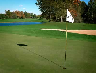 Lush green at West Chester Ohio golf course